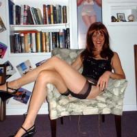 Red-head Laila in Cuban Heels