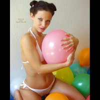 Angelina With Balloons