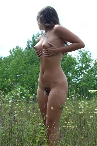 Long Brunette Hair - Brunette Hair, In The Woods, Nude In Nature, Perky Tits , Long Brunette Hair, Nude In Nature, Perky Tits, Outdoors In Field, Unshaved, Cone Shaped Breasts, Grabbin  Tits, In The Woods