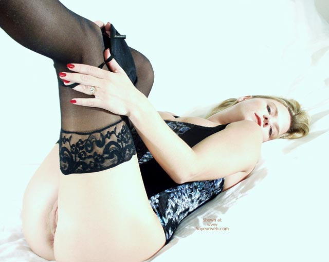 Panties Coming Off , Panties Coming Off, Lace Stockings, Blond On Back