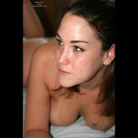 Face , Face, Medium Sized Breasts, Boob Tattoo