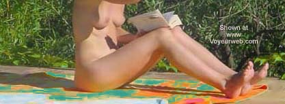 Pic #1 Reading Naked in The Sun