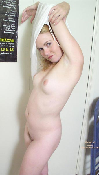 Nude Pose - Full Frontal Nudity , Nude Pose, Full Frontal Nudity, Don T You Want Me Look, Blonde Nude Arms Above Head