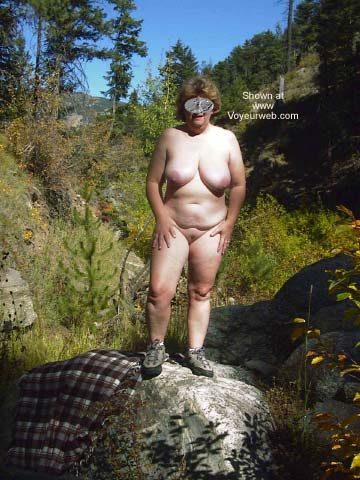 Pic #1 Mature Wife Outside Again