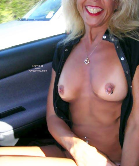 Blond - Blonde Hair, Hard Nipple, Nude In Car , Blond, Hard Nipple, Car