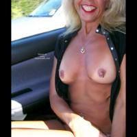Blond - Blonde Hair, Hard Nipple, Nude In Car , Blond, Hard Nipple, Car