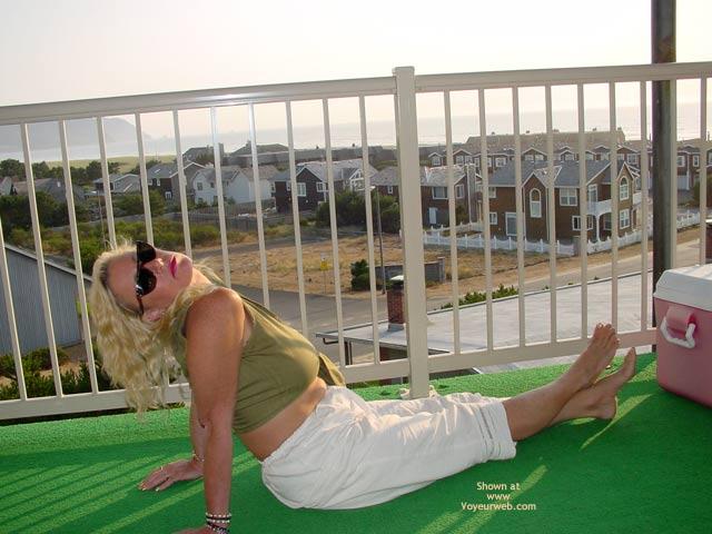 Pic #1 Ashley Posing On The Balcony