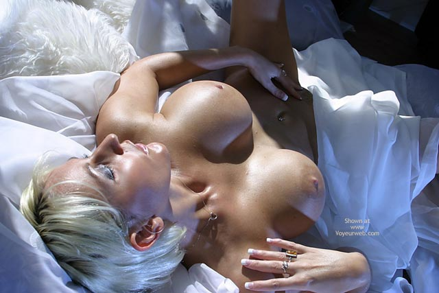 Touching Herself - Bed, Blonde Hair, Touching Herself , Touching Herself, Tits And Pussy, Blonde, Up Side Down, Bed, Blond, View From The Top, Orgasmic, The Pleasure Of Skin