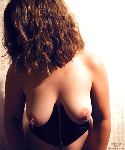 Pic #1 OH Wife - Black Vinyl & Nipple Jewels
