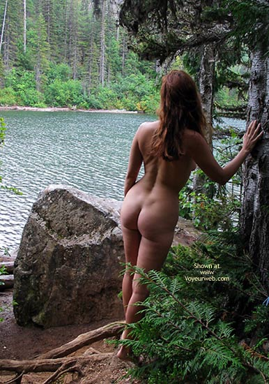 Naked In Woods - Long Hair, Rear View , Naked In Woods, Naked By Lake, Long Brown Hair, Rear Shot, Big Ass, Nude By Lake Rearshot