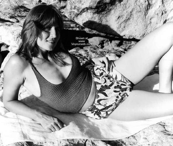 Pic #1 Cheryl B&W II - On The Rocks