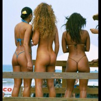 Three Asses , Three Asses, Micro Strings, Three Asses In String Bikini