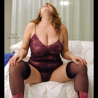 Dafne Too Sexy With Purple Lingerie