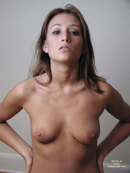 Topless Facial Of A Brunette - Full Frontal Nudity, Small Tits, Sultry Look , Topless Facial Of A Brunette, Frontal Shot, Small Tits, Sultry Look