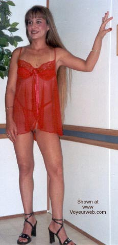 Pic #1 Amber's Red Lingerie