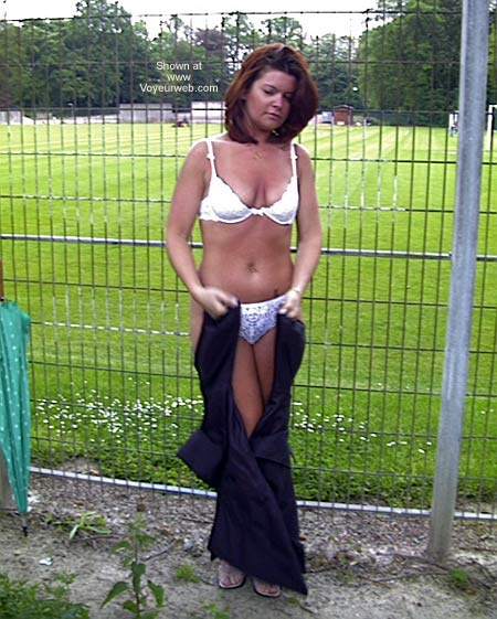 Pic #1 Sexy French Girlfriend Outdoors 1