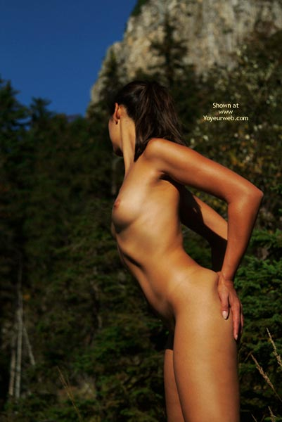 Firm Body - Standing , Firm Body, Naked In The Woods, Nude Silhouette, Standing