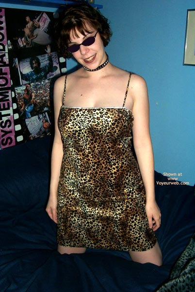 Pic #1 Kitty Kim'S  Leopard Dress And Collar