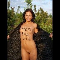 Shameless Advertising - Perky Tits, Trimmed Pussy, Naked Girl, Nude Amateur , Smiling At The Camera, Trench-coat, Vw Flasher, Standing Fully Nude, Outside Naked, Nude Outdoors, Opening Raincoat To Flash, Fabulous Full Frontal Nude, Full Frontal Nude With Pretty Face, Voyeurweb Shout Out, Pussy Patch