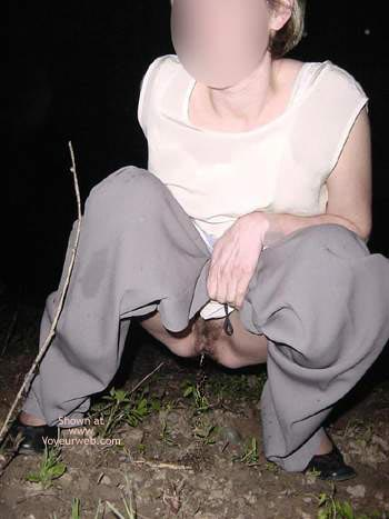 Pic #1 Nina Outdoor Flash, Big Nature Tits & Pee