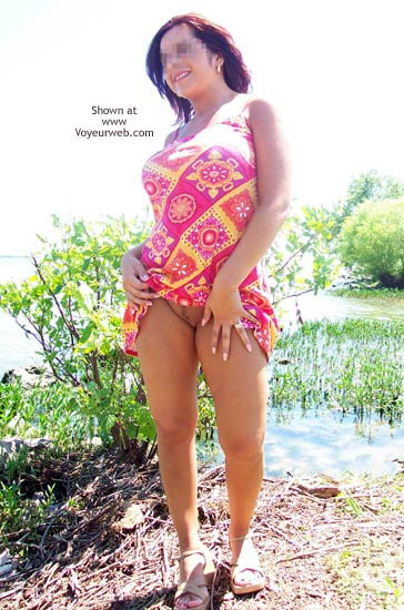 Pic #1 Kandy Panty-less at The Lake