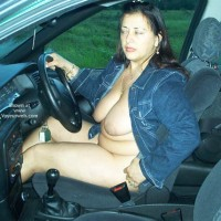 Roxy Out in Her Car