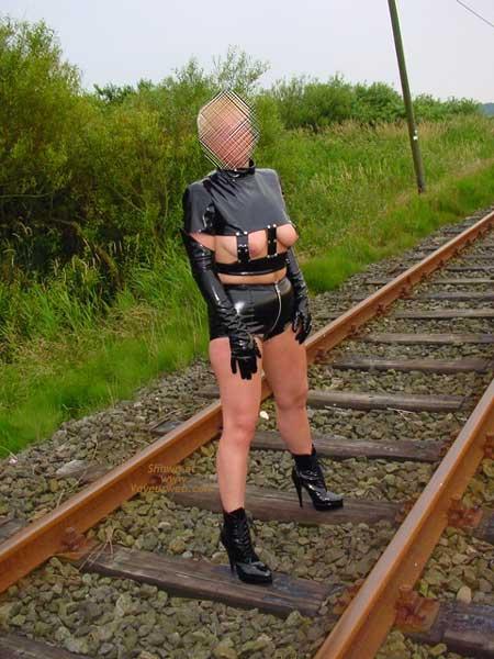 Pic #1 Niceboobs at The Railroad Track!