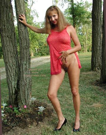 Pic #1 Natalie Red Sheer Dress