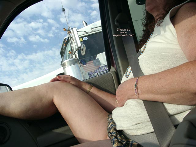 Pic #1 More of Misti Flashing Truckers