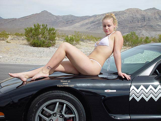 Pic #1 Bianca Getting Naughty On The Vette