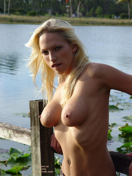 Blonde Outside - Big Areolas, Naked Outdoors, Navel Piercing , Blonde Outside, Naked Outside, Pierced Bellybutton, Big Areolas, Blonde Hair In Sun, Breathing In Showing Ribs
