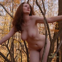 Womanly Hips - Hanging Tits , Womanly Hips, Hanging Boobs, Long Redhair, Tree Nymph, Nature Flashing