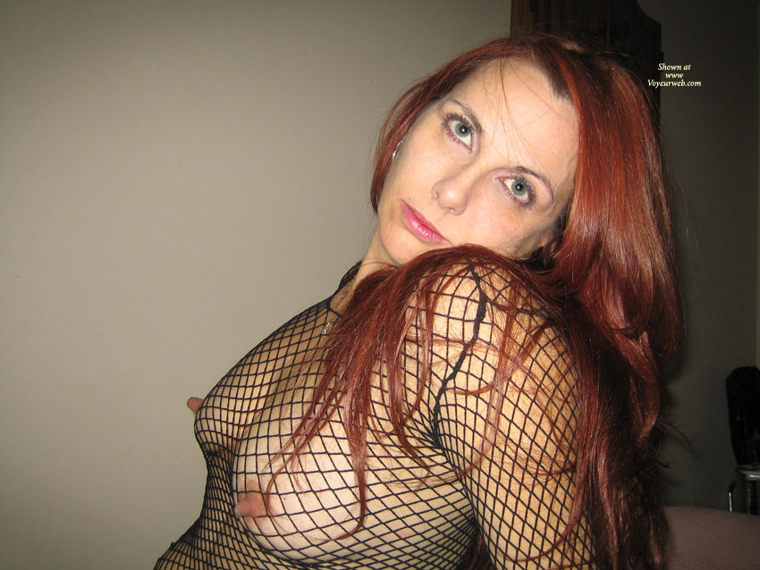 Nips poking through fishnet think