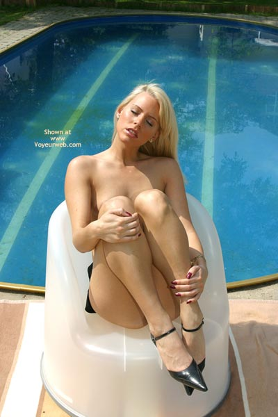 Eyes Closed - Eyes Closed, Heels , Eyes Closed, Swimming Pool, Black High Heels