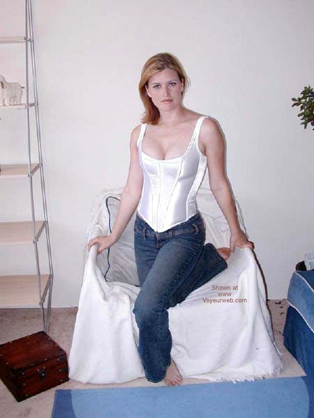 Pic #1 White Corset With Ties