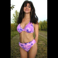 Nadine Outside in Her Bikini