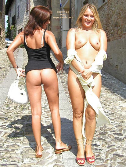 Two Girls - Girls , Two Girls, Titties And Ass, Short Dress, Showing Off With Girlfriend, Pushing Boobs Together, Tits And Ass In Public, Flashing Tits And Ass