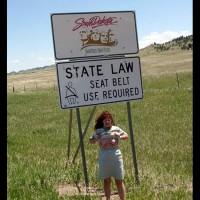 Misti - Leaving South Dakota Entering Wyoming