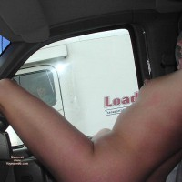 Nipple Piercing - Flashing, Pierced Nipples , Nipple Piercing, Nude On Highway, Trucker Flashing, Naked In Vehicle, Pierced Nipple