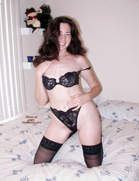 Pic #1 Black Garter and Heels