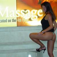 Michele More Flashing In Vegas