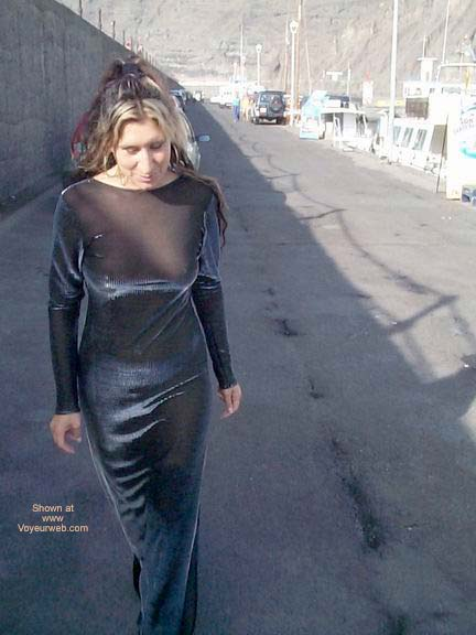 Pic #1 See Thru Dress On The Marina
