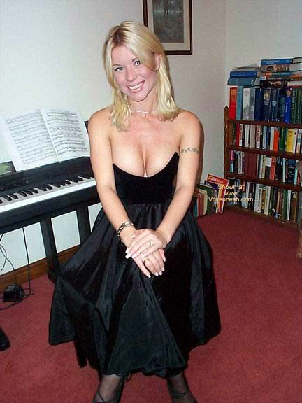 My Large Breasts Popping Out Of An Evening Dress - October, 2002 -4837