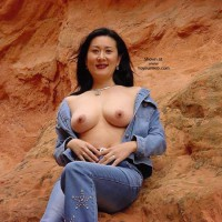 Topless Girl In The Desert - Asian Girl, Black Hair, Flashing Tits, Showing Tits, Topless Outdoors , Topless Girl In The Desert, Asian Girl, National Park, Flashing Tits, Asian Showing Tits, Oriental, Desert Oriental Tits, Open Blouse, Black Hair, Asian, Topless Outdoors