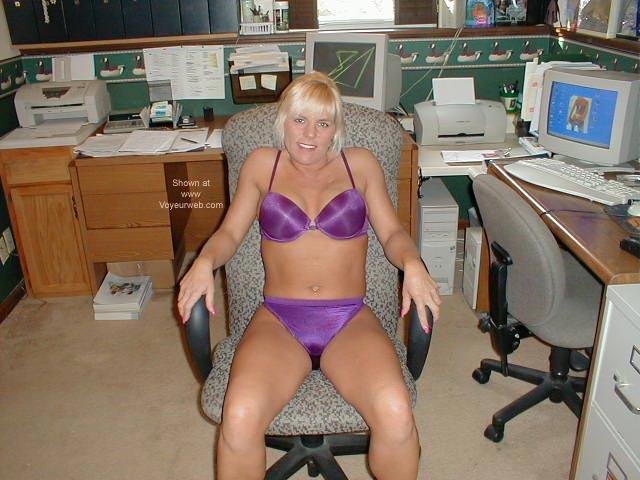 Pic #1 Laney @ Her Desk