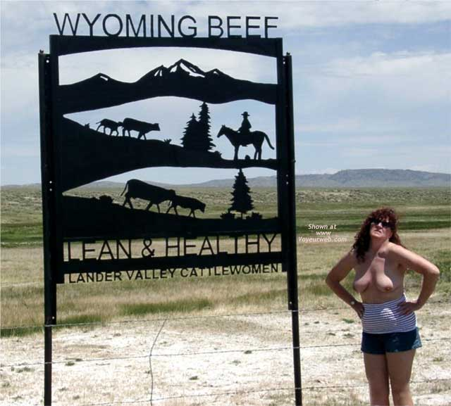 Pic #1 Misti Along The Highway in Wyoming