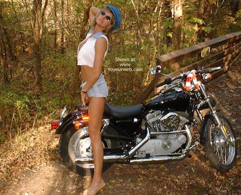 Pic #1 Chloe On Harley Davidson