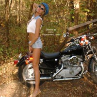 Chloe On Harley Davidson