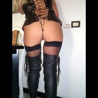 Leather Boots And Stockings For The Public To See