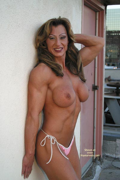 Pic #1 Gina Shows Muscle And More